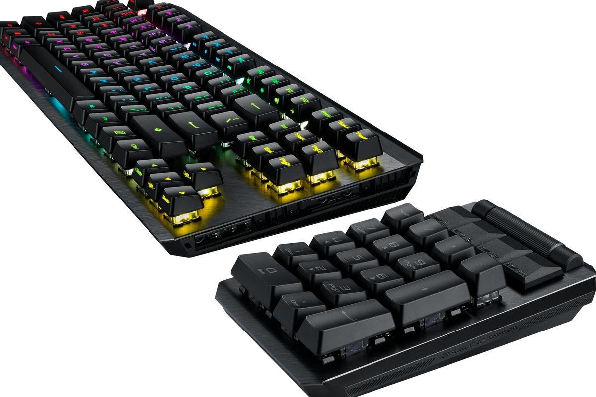 华硕推出ROG Claymore II机械键盘 号称拥有1亿次按键寿命
