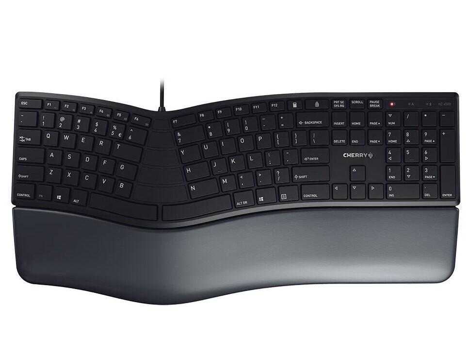 即插即用! Cherry发布KC 4500 ERGO人体工程学键盘