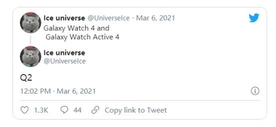 三星Galaxy Watch4和Active 4将在二季度上市 改用谷歌Wear OS