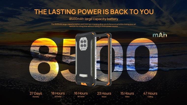 国产五防手机DOOGEE S86发布 配备侧置指纹识别器
