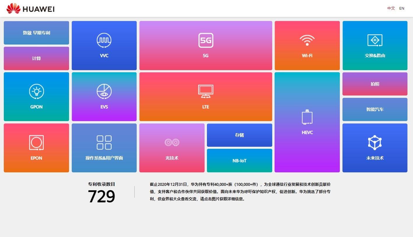 华为官网上线专利墙  早在2002年就已经拿到5G专利