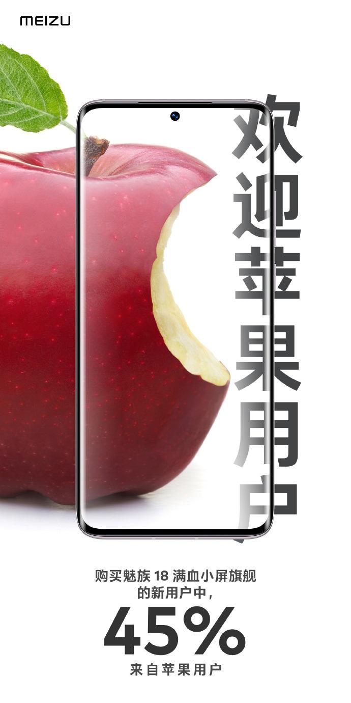 魅族称魅族18 45%新用户之前是苹果iPhone用户