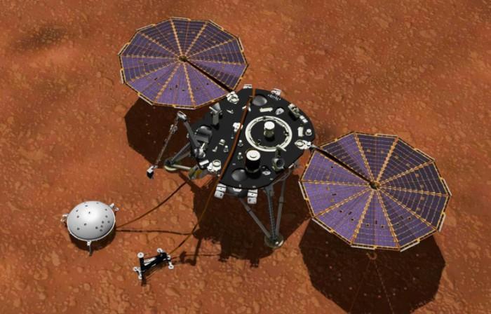 """""""洞察号""""着陆器太阳能电池板被火星灰尘覆盖处于紧急休眠模式"""