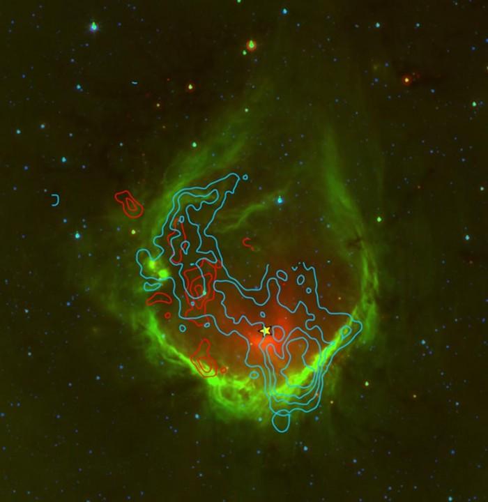 天文学家研究发现:RCW120发射星云的年龄肯定小于15万年