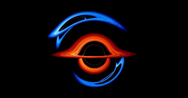NASA公布一段双黑洞共舞现象的可视化图像