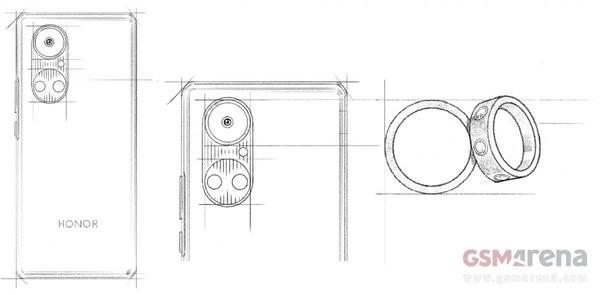 荣耀50系列曝光 镜头设计上和华为P50曝光图非常相似