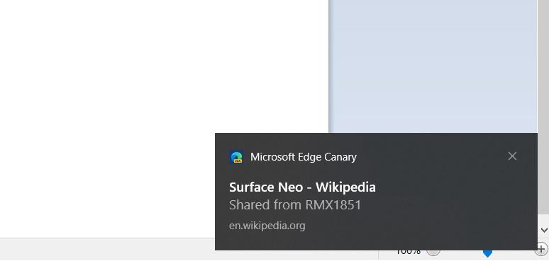 """微软Edge Canary增加让用户将网页""""发送到我的设备""""功能"""