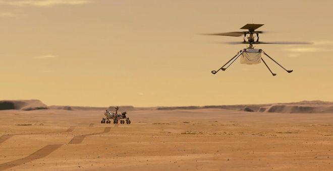 """火星车""""毅力号""""传回最新文件 内含""""机智号""""第四次飞行时的声音"""