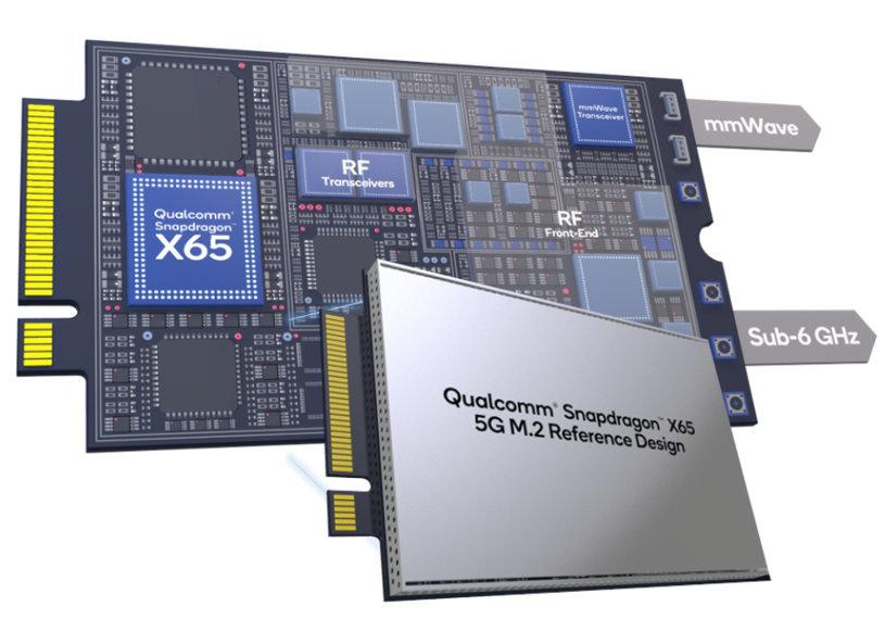 具备4个IPEX天线接口 高通推出骁龙X65/X62 5G M.2接口参考设计