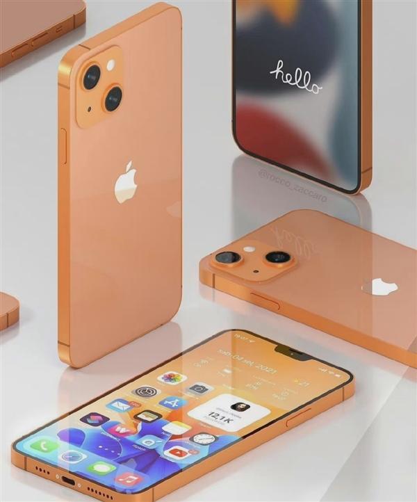 iPhone 13日落金配色最新渲染图出炉 网友吐槽像工地常见板砖